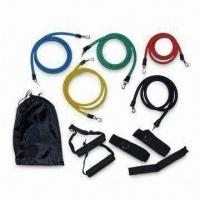 China Resistance Band Set, Includes Door Anchor, Ankle Strap and Black Travel Bag on sale