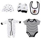 Quality New Born Baby Boy Clothing Sets 100% Cotton Infants Bodysuits 5 Pcs Set for sale
