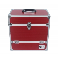 Buy cheap Record LP storage case with unique folding front flap Aluminum DVD case red from wholesalers