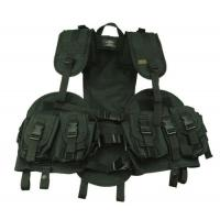 Black, Green Swat Tactical Gear AK-47 Bellyband Vest with Hydration