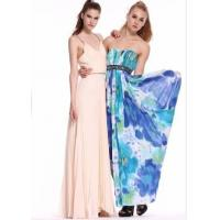 Quality Wholesale printing chiffon sweetheart beading prom dresses for sale