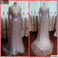 China GD34 Surmount Gorgeous Fully Crystal Beaded V Neck Empire Couture Evening Dresses 2015 on sale