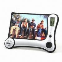 China Voice Recorder Photo Frame with LCD Clock and Radio on sale