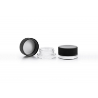 China Mini Glass Jar With Crc Compression Rotation Cap For Storage Packaging on sale