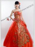 China strapless wedding dress bridal  gown plus size on sale