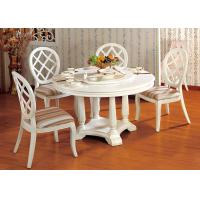 Quality Elegant Wooden Luxury Dining Room Furniture White Round Dining Table for sale