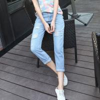 Quality Mid Rise Shorts Women'S Fashionable Straight Leg Cropped Jeans Western Style for sale