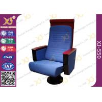 China Custom Wood High Back Church Hall Chairs Soft Padded For Pastor / Minister on sale