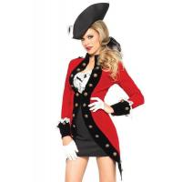 Quality Military Red Coat Womens Sexy Costumes  Halloween Party Dress for sale