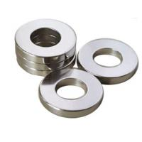 Quality Professional Ring Shaped Magnet / Ring Permanent Magnet Silver Coating for sale