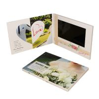 Quality CMYK Invitation Lcd Video Greeting Card Digital Book 1200*600 Pixel With USB Cable for sale