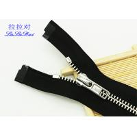 Quality Normal Teeth 5 / 6 / 7 / 9 / 10 /  Inch Separating Zipper For Jackets , Heavy Duty Parka Zippers for sale
