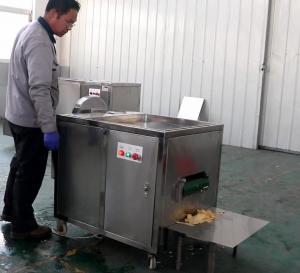High Capacity Banana Chips Production Line Green Banana Slicing Machine 0.74kw Power