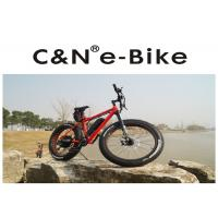 Quality High Power Fat Tire Snow Bike , PAS Throttle Full Suspension Electric Mountain Bike for sale