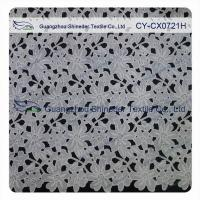 Quality Thick Polyester Charming Allover Fabric Chemical Lace For Lady Garment for sale