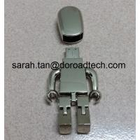 Buy cheap High Quality ALL Metal Robot USB Flash Drive 2.0, Gift USB Drives with Laser Printing Logo product
