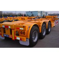 Quality 20ft Or 40ft Flatbed Container Semi Trailer CIMC Skeleton Single Tire for sale