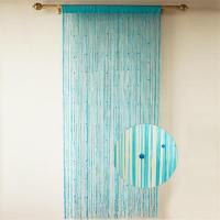 China Sparkle attractive wholesale elegant pearl flat string curtain for home decoration on sale