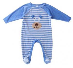 Quality Comfortable Organic Cotton Infant Pajamas Long Raglan Sleeve Sleepsuit for sale