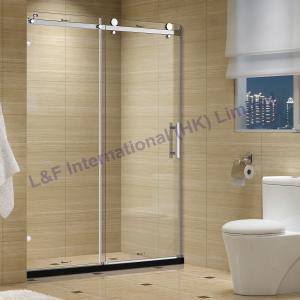 China 8MM Frameless Tempered Glass Sliding Shower Door on sale