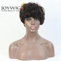 Quality Instock 100 Human Hair Wigs For African Americans Short Bob Wig for sale