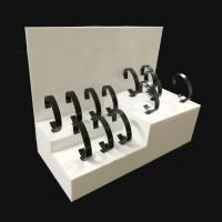 Quality 3mm White Acrylic Shop Display / Countertop Watch Display Stand for sale