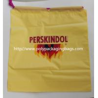 Quality Yellow Waterproof Nylon Mesh Promotional Drawstring Bags / Personalized Drawstring Bags for sale