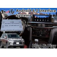 Quality Android 6.0 Auto Video Interface for Lexus LX 570 with Mouse Control 2016-2018 , GPS Navigation Waze Mirrorlink for sale