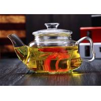 Quality Mouth Blown Glass Teapot With Infuser Microwave Safe 1000ml Customized logo for sale