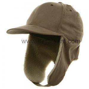 China 100% cotton baseball style 6 panel hat with polar fleece earflap winter fashion unisex winter hat on sale