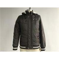 Quality Chocolate Textured Bomber Puffer Jacket Detachable Hood For Menswear Tw58230 for sale