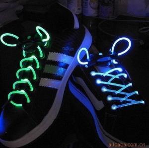 China LED Shoelace,Neon Glow Shoelace,Flashing Shoelace, on sale
