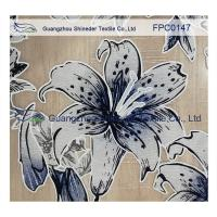 Quality Lily pattern Burned out Lace Fabric Polyester&Cotton light and comfortable  for garment for sale