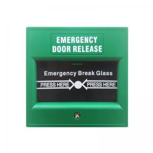 Plastic Notifier Manual Call Point Explosion Proof , Emergency Break Glass Door Release