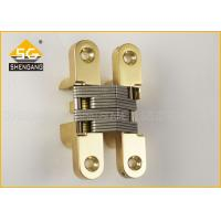 Quality Brass Chrome Invisible 180 Degree Hinges For Swinging Door / Cabinets for sale