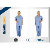 Buy cheap Colorful Disposable Operating ScrubsNow-woven For Laboratory Anti - Bacteria With CE from wholesalers