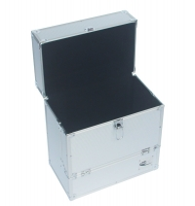 Quality Alu storage case LP record holder retro musique storage box DVDs organizer for sale