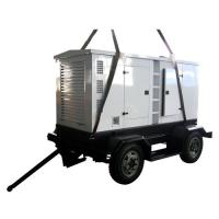 Quality Silent Diesel Generators 250KVA With Trailer / Vertical Engine for sale