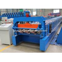 China Steel Structure Floor Decking Forming Machine Automatic With Hydraulic Cutter on sale