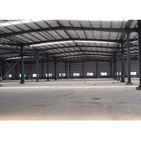 Prefab Steel Warehouse Construction / Industrial Steel Buildings Galvanized Surface