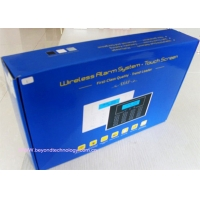 Quality LCD Display GSM Home Alarm System with touch keypad and wireless doorbell for sale