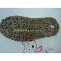 Quality Professional TPR rubber outsole Shoe Sole Rubber Sheet , flower pattern for sale