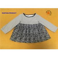 Quality Long Sleeve Little Girl Summer Dresses Round Neck 100% Polyester Sample Avaliable for sale
