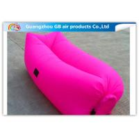 Buy cheap Colorful Inflatable Sleeping Bag / Soft Air Sofa Bed With Inflatable Mattress product