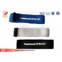Quality Knitted Black Elastic Hook And Loop Strap Strong Elasticity SGS / ROHS for sale
