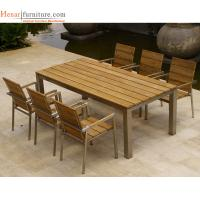 Quality Hotel Outdoor Restaurant Furniture Wooden Dining Chair with Metal Frame for sale