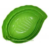 Quality Pure green melamine plate dinnerware for sale