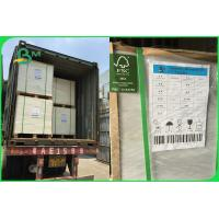 Quality FSC SBS FBB Cardboard Paper Roll 350 - 400gsm 90 X 110cm For Invisible Sock Packaging for sale