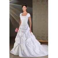 Quality SUMPTUOUS SUMPTUOUS FORMAL WEDDING DRESS WITH SHORT SLEEVES for sale
