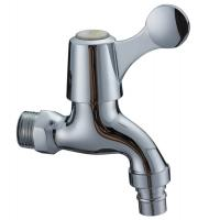 Quality Contemporary Water Saving Single Cold Water Taps Chrome Plated Faucet , Wall Mounted for sale
